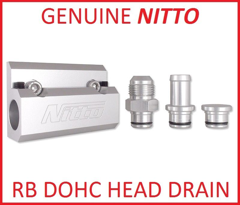 NITTO RB HEAD OIL DRAIN 5/8 HOSE FITTING NIT OIL RBD for NISSAN SKYLINE BNCR33