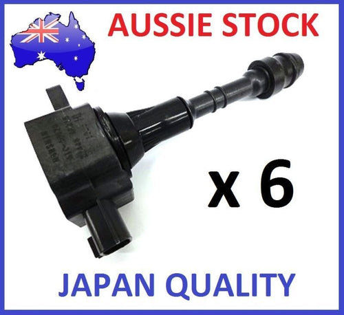 6 GENUINE IGNITION COIL Pack OVER PLUG for Nissan PATROL GU TB48DE 4.8L  01-07