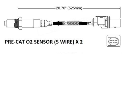 PRE-CAT O2 sensor kit for Holden Commodore VE V6 Models to Sept 2007 (2 sensors)