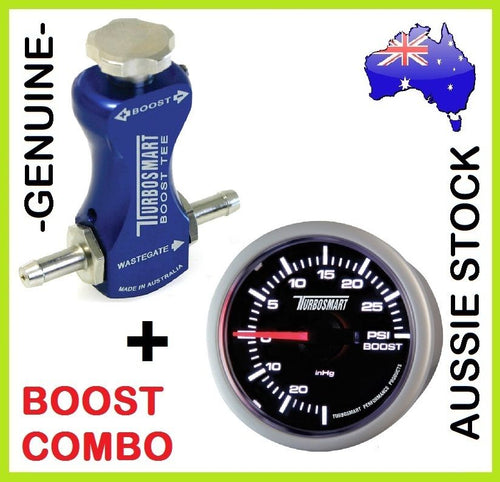 *GENUINE* TURBOSMART Boost Tee Blue Turbo Boost Controller + 52mm Boost Gauge
