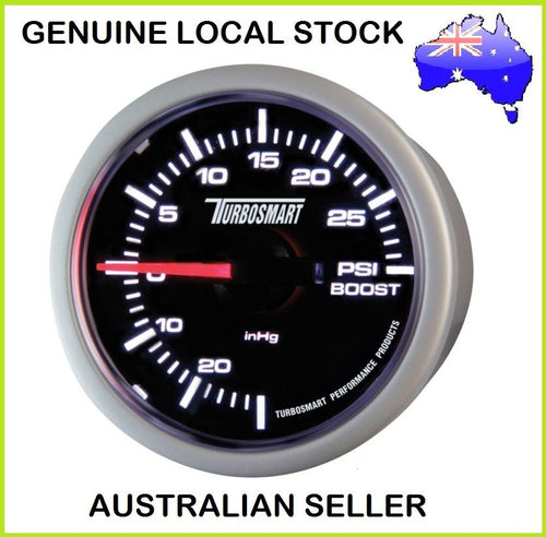 New Genuine TURBOSMART Turbo Boost Gauge 30PSI 52mm + Mounting Hardware PSI