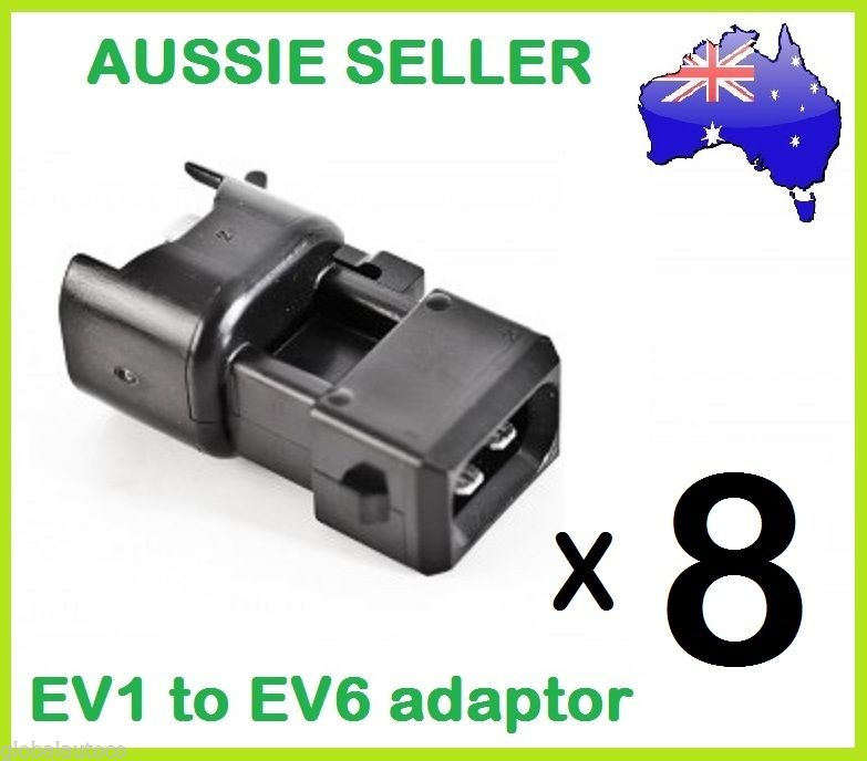 8 EV1 to EV14 ID Injector Plug adaptors convert US Car Plug to EV1 Bosch wiring