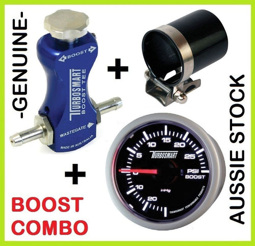 TURBOSMART Boost Tee Blue Turbo Boost Controller + 52mm Gauge + Mounting Cup