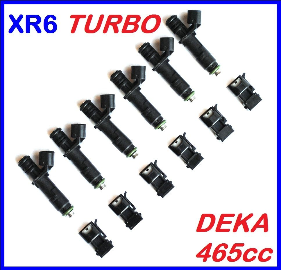 Fuel Injector s x 6 for Ford BA BF XR6 turbo FPV 465cc SIEMENS DEKA VII w/ adaptors