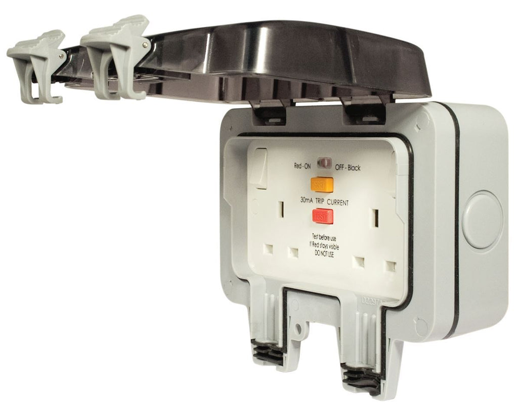 Masterplug Weatherproof Socket Outdoor Rcd