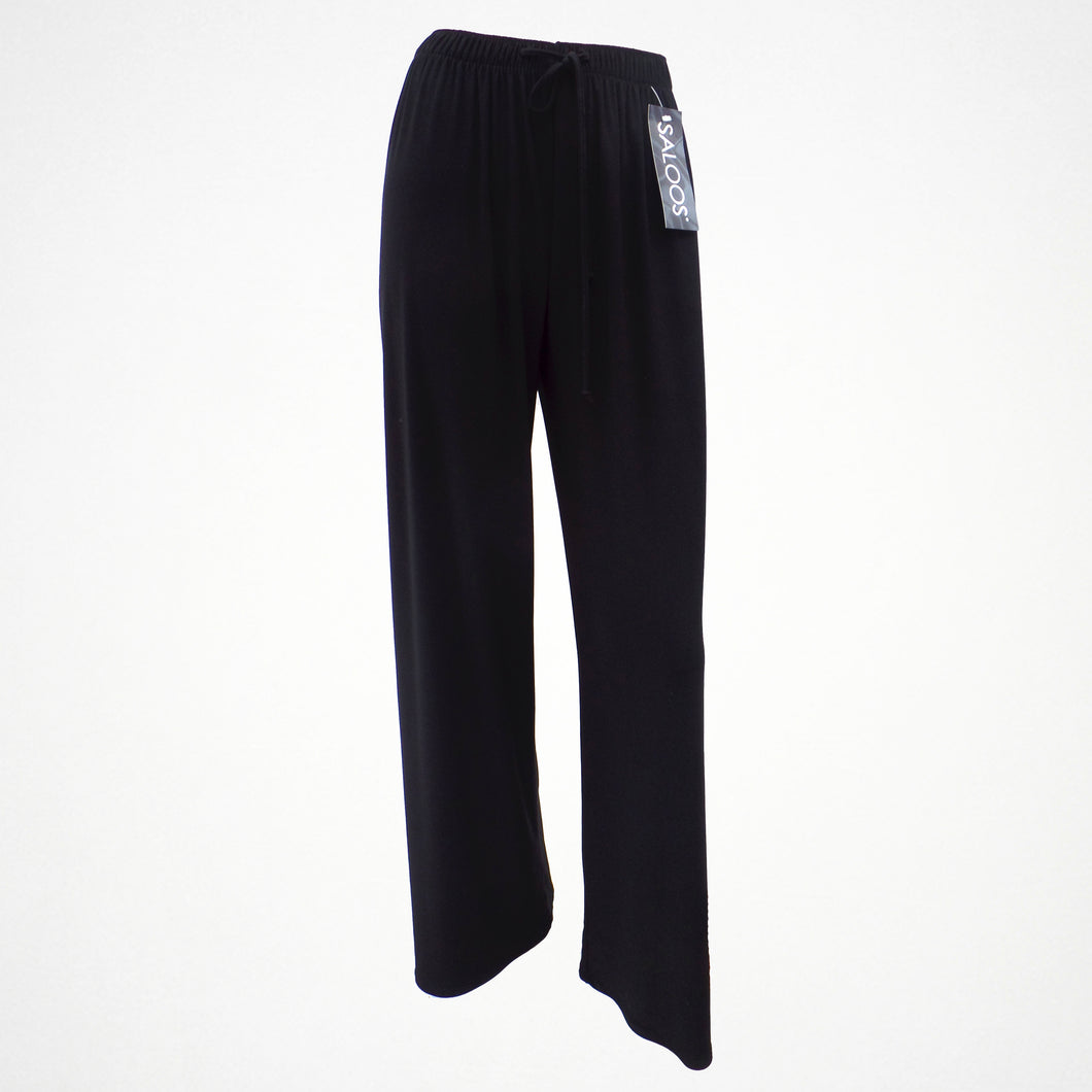 Saloos Black Silky Trousers