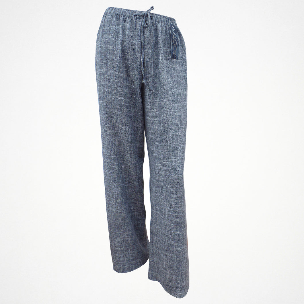 Grey Linen Look Elasticated Trousers in Sizes 12-22