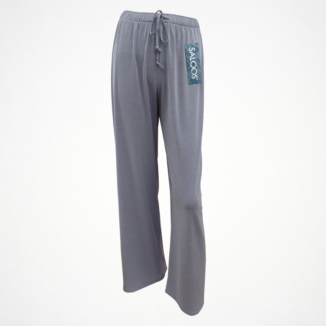 Grey Silky Look Elasticated Trousers in Sizes 12-24
