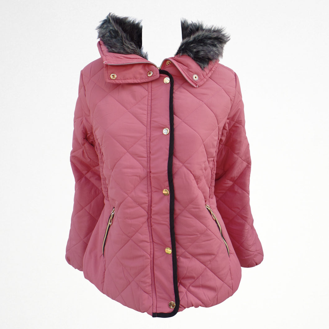 Pink Winter Zipped Jacket