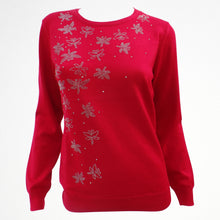 Red Jumper with Butterfly Sequin Detail