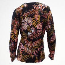 Black Jumper With Orange Floral Pattern