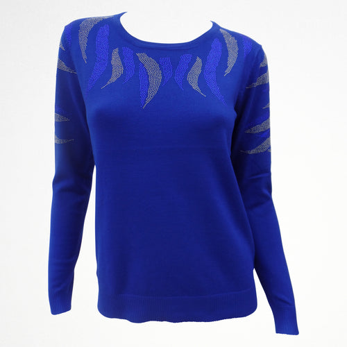 Blue Jumper With Sequin Detail