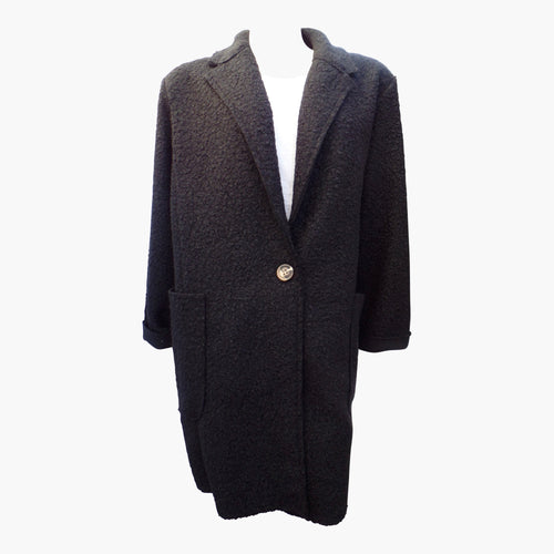 Women's Black Warm Winter Teddy Coat