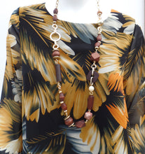 Yellow and Black Layer Top With Necklace