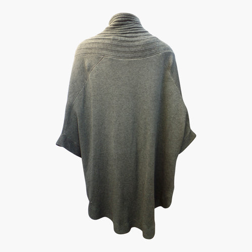 Khaki Warm Winter Cape with Border