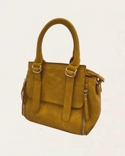 Lilly Medium Mustard Handbag with Buckle Detail