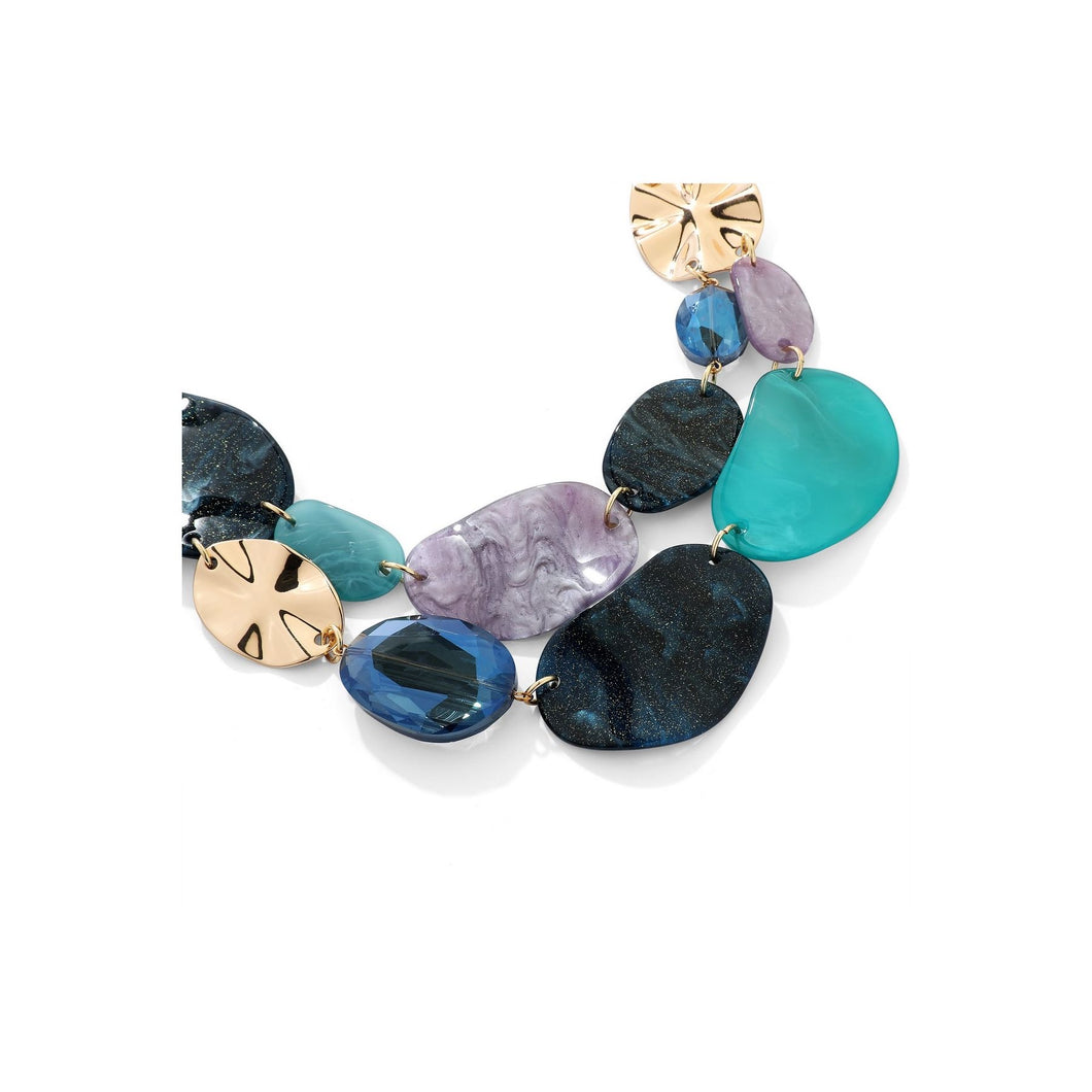 Mixed Blue Stone Necklace