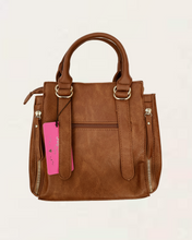 Lilly Medium Tan Handbag with Buckle Detail