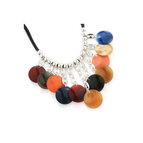 Multi Colour Tribal Long Necklace