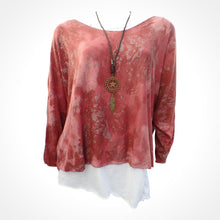 Red Double Layer Top with Necklace