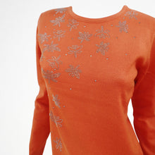 Orange Jumper with Butterfly Sequin Detail
