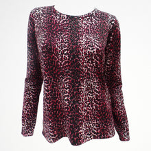 Red Leopard Print Jumper with Sequins