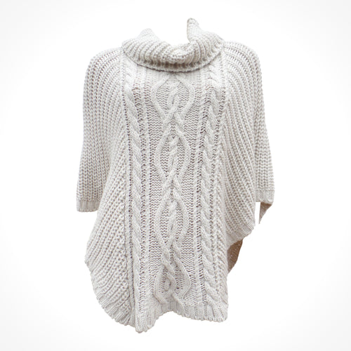 Cream Cable Knit Cape