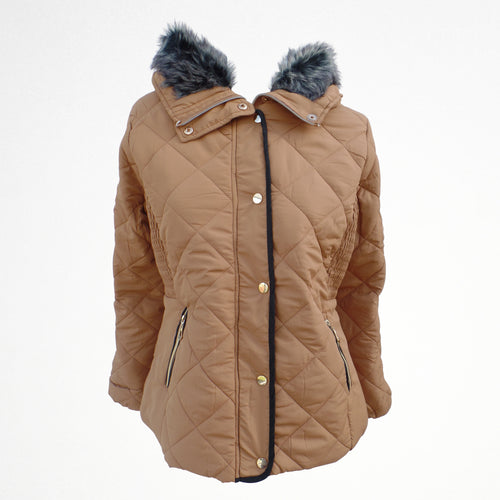 Beige Winter Zipped Jacket