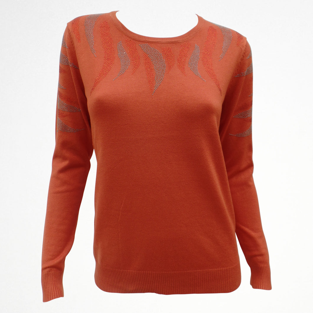 Orange Jumper with Sequin Detail