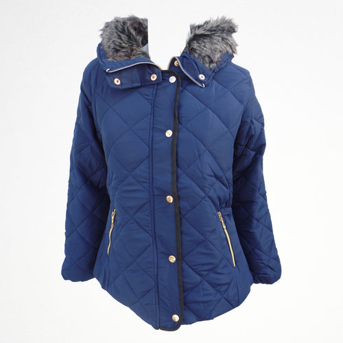 Blue Winter Zipped Jacket