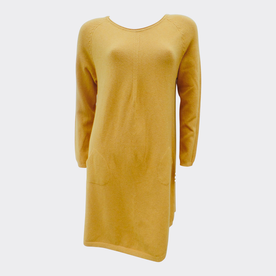 Long Mustard Jumper Dress