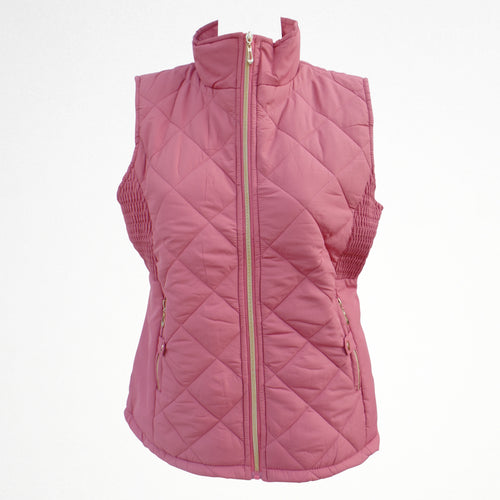Women's Pink Gilet Jacket With Fleece Lining
