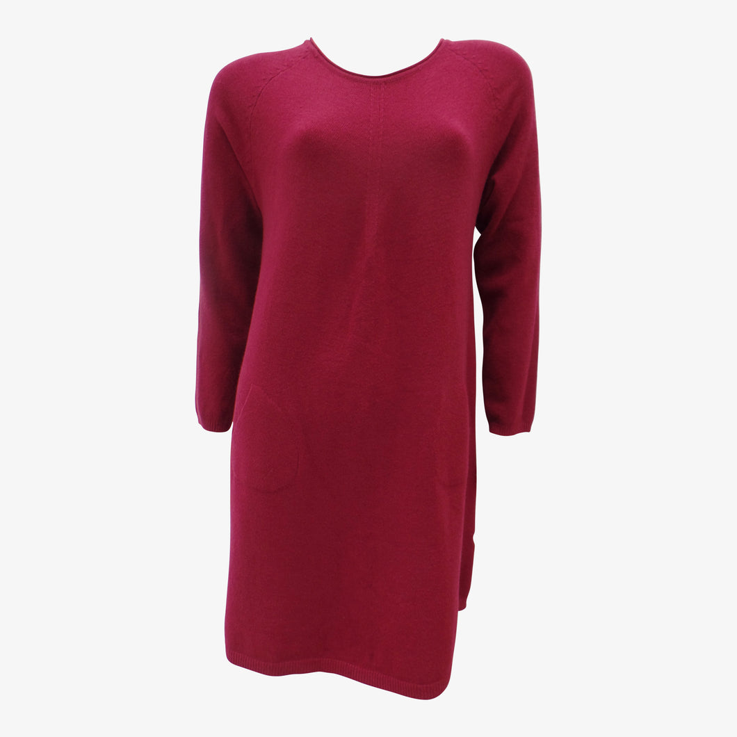 Long Maroon Jumper Dress