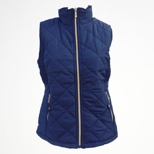 Women's Blue Gilet Jacket With Fleece Lining