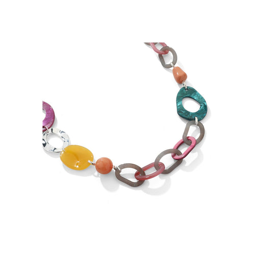 Long Colourful Chain Necklace