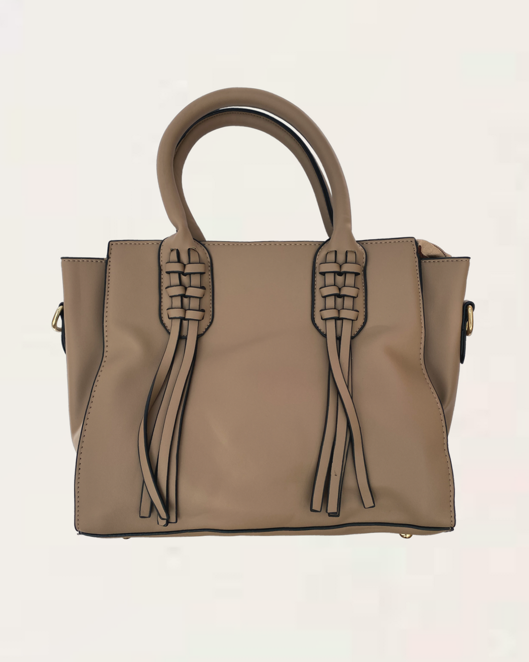 Eva Large Taupe Tote Shoulder Handbag