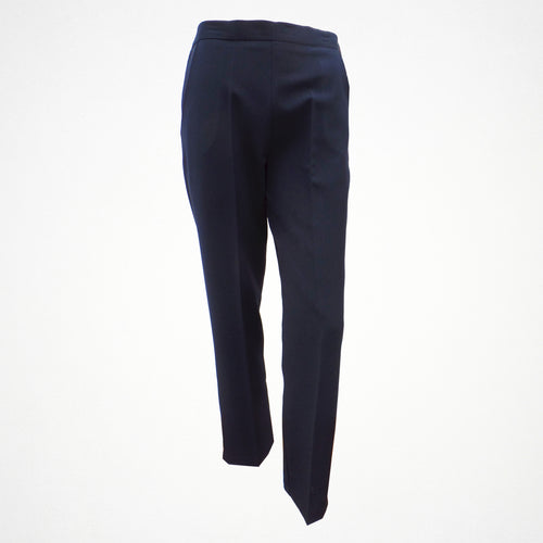 Navy Tapered Trouser With Elasticated Back