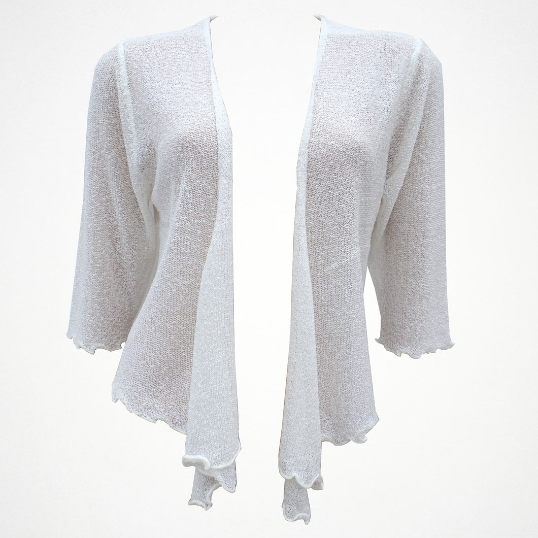 Cream Plain Shrug