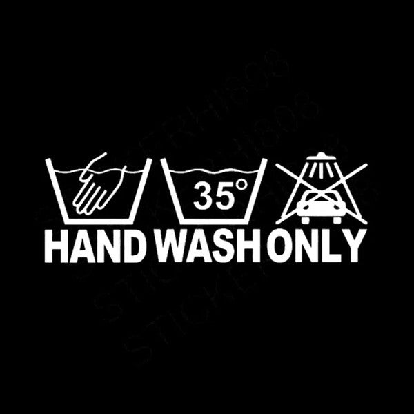 Hand Wash Only - Dekal - Norgesmerket.no