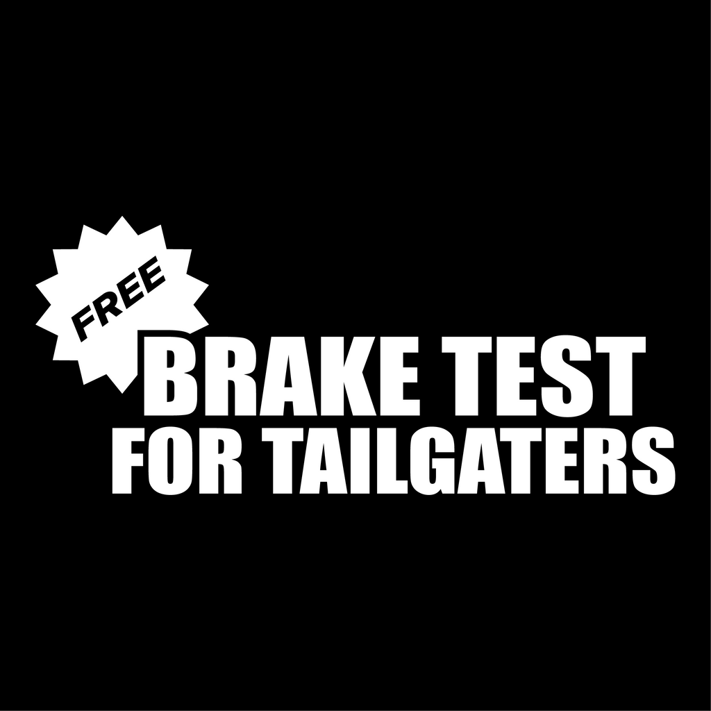 Free brake test for tailgaters - Dekal - Norgesmerket.no