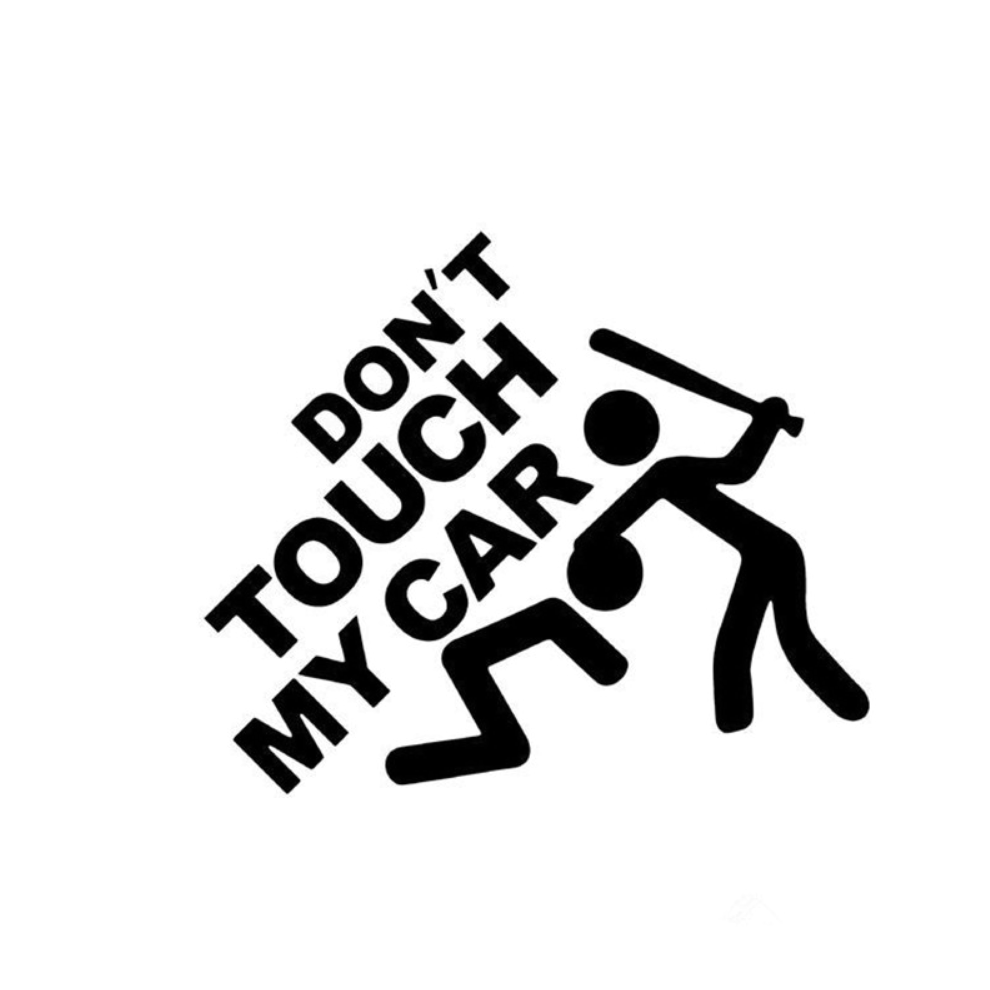 Don't Touch My Car - Dekal - Norgesmerket.no