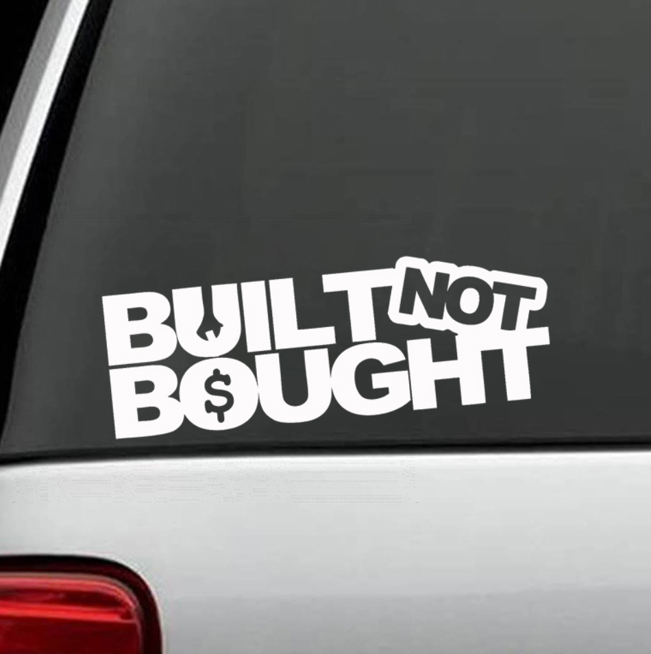 Built Not Bought - Dekal - Norgesmerket.no