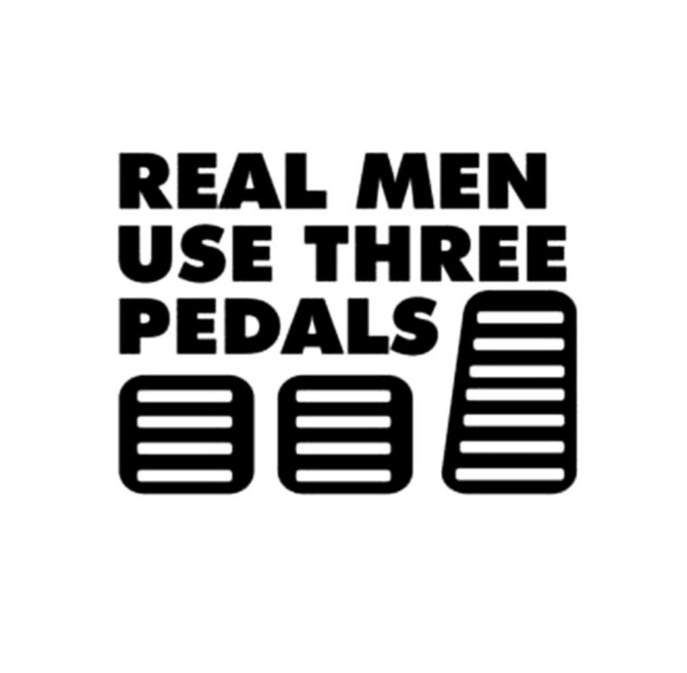 Three Pedals - Dekal - Norgesmerket.no