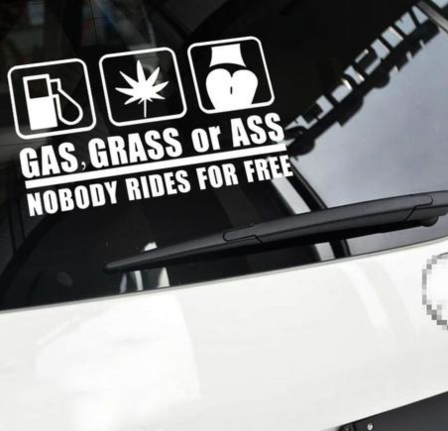 Gas, grass or ass - Dekal - Norgesmerket.no
