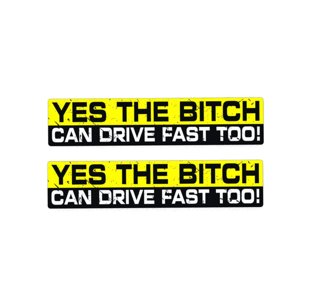 B*tch Can Drive Fast - Stickers - Norgesmerket.no