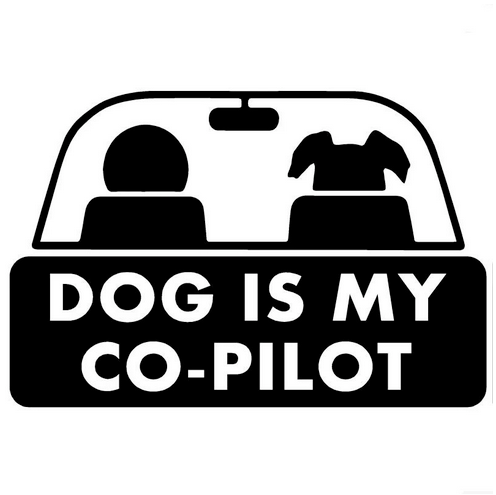 Dog is my co-pilot - Dekal - Norgesmerket.no