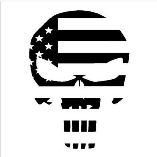 Punisher skull USA - Dekal - Norgesmerket.no