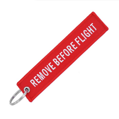 Remove before flight – Vimpel-nøkkelring - Vimpel - Norgesmerket.no