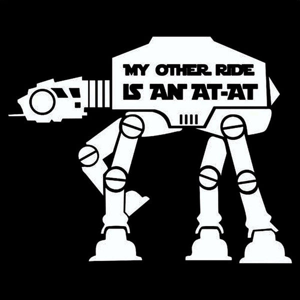 My Other Ride Is An AT-AT - Dekal - Norgesmerket.no