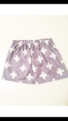 Grey Cross Shorts